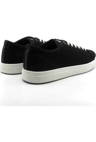 ALPHAONE Siyah Keten Erkek Sneaker