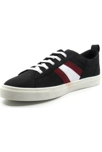 ALPHAONE Siyah Suni Deri Erkek Sneaker
