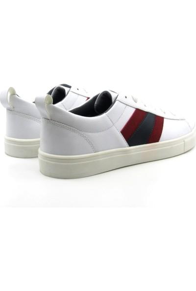 ALPHAONE Beyaz Suni Deri Erkek Sneaker