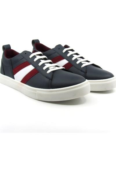 ALPHAONE Lacivert Suni Deri Erkek Sneaker