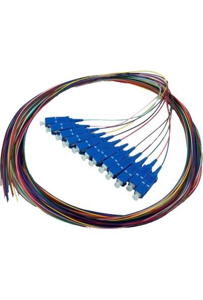 Baust Sc/upc Sm Pigtail Fiber Optik Kablo 12 Renk - 1.5 mt