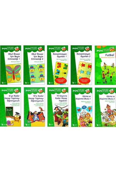Önel Yayıncılık Miniyup 5+ Yaş Eğitim Seti 1 Ahşap Panel + 10 Kitapçık