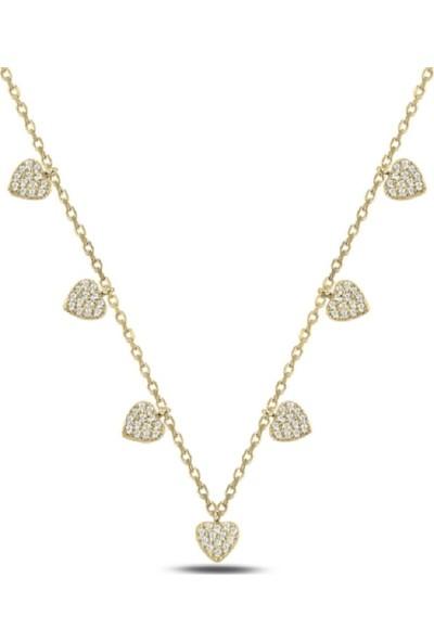 Karakaya Kuyumculuk Altın Kaplama 925 Ayar Gümüş Kalp Kolye
