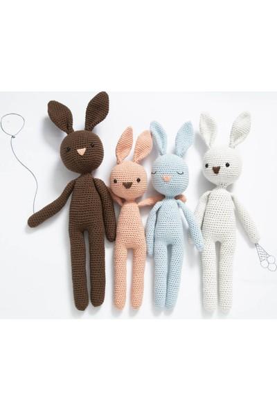 ÖRBİ Tavşan Uyku Arkadaşı Amigurumi Oyuncak (30 cm)