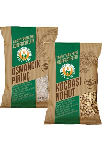 Tarım Kredi Osmancık Pirinç 2,5 Kg Ve Nohut 1 Kg