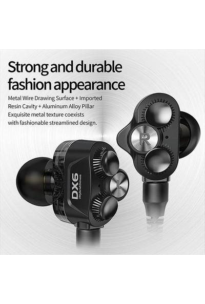 Ally Plextone DX6 3.5mm Jack Hifi Stereo Bas Mmcx Kablo Kulakiçi Kulaklık