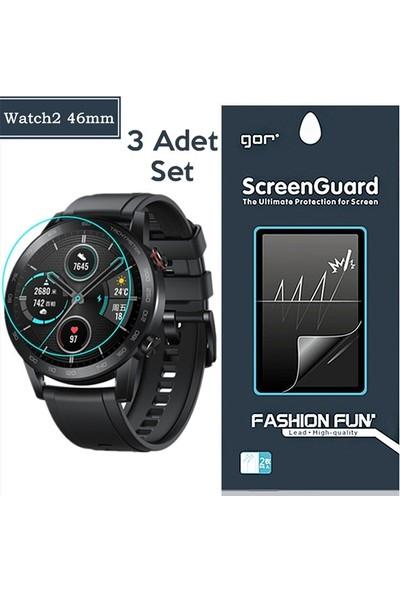 Ally Gor Honor Magic Watch 2 46mm Darbe Emici Ekran Koruyucu 3 Adet Set