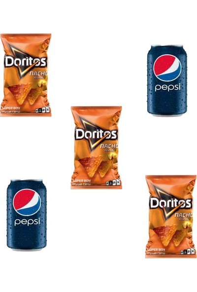 Doritos Naco 120 gr 3'lü Pepsi Kutu Kola 2'li