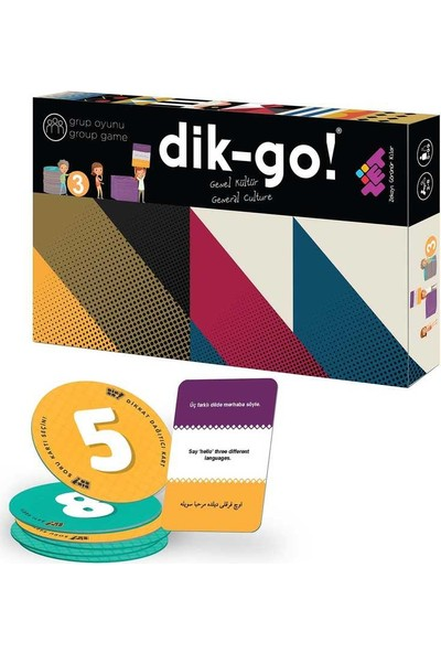 Zet Zeka Dik-Go (Genel Kültür) Dikkat, Zeka, Akıl, Mantık ve Strateji Oyunu 5 Yaş ve Üzeri