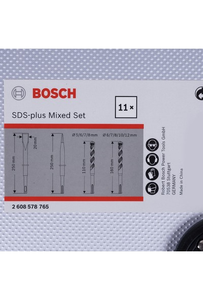 Bosch Sds-Plus Matkap Ucu ve Keski Seti 11'li