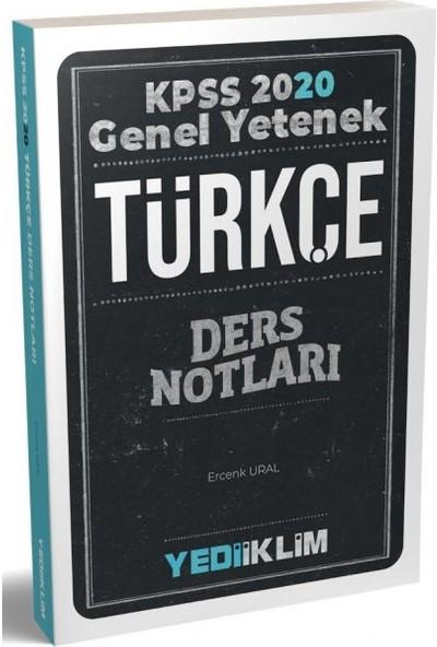 Yediiklim Yayınları Genel Yetenek Türkçe Ders Notları