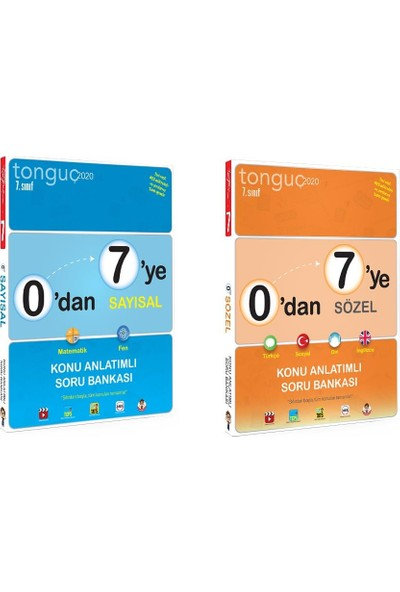 Tonguç Akademi 7. Sınıf 0'dan 7'ye Sayısal Sözel Konu Anlatımlı Soru Bankası Seti - 2 Kitap