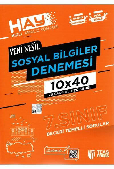 Teas Press Sınav Yayınları 7. Sınıf Yeni Nesil Sosyal Bilgiler Denemesi 40 Adet