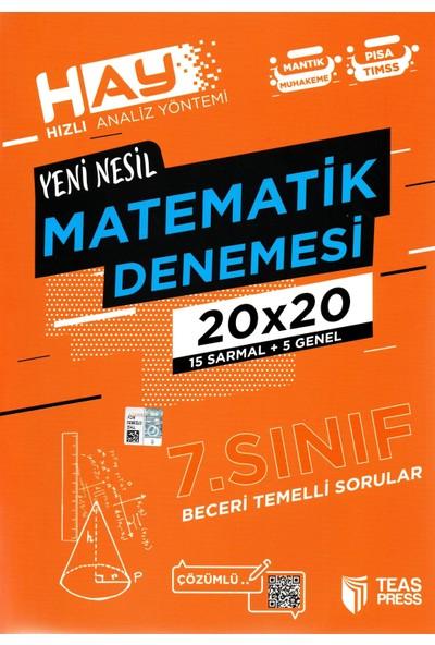 Teas Press Sınav Yayınları 7. Sınıf Yeni Nesil Matematik Denemesi 40 Adet