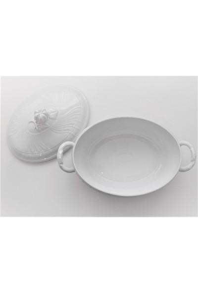 Vecchio Ginori Beyaz - Kapaklı Porselen Çorba Kabı 3, 17 Lt.