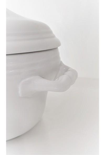 Antico Doccia Kapaklı Porselen Çorba Kabı 3,85 Lt.