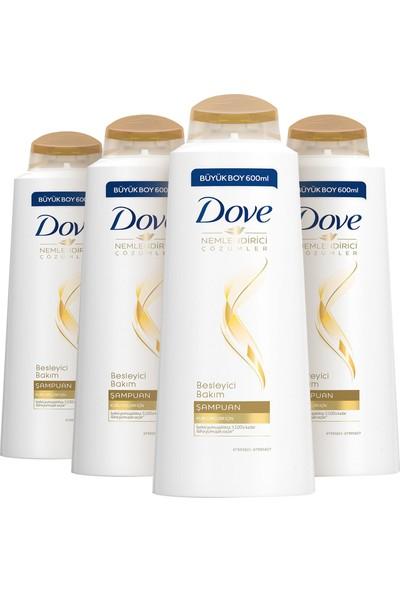 Dove Nemlendirici & Besleyici Bakım Şampuanı 600 ml x 4