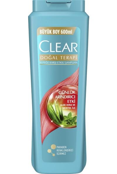 Clear Günlük Arındırıcı Etkili Aloe Vera ve Menthol Şampuan 600 ml