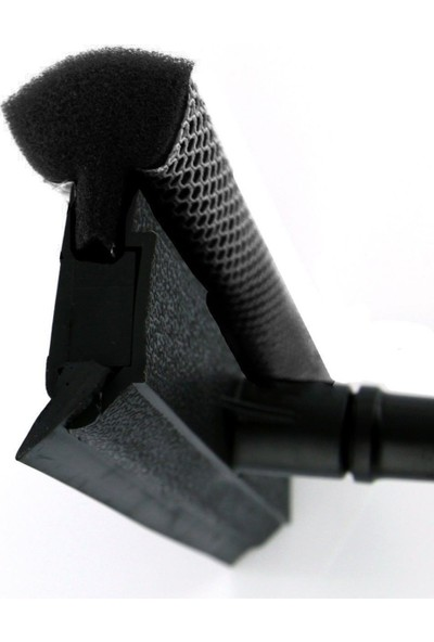 Turuncu Koli Teleskopik Sap Çekçekli Cam Silme Aparatı Tablet Mop