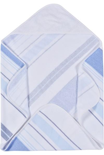 Mollia Bebek Havlu Mavi-Beyaz
