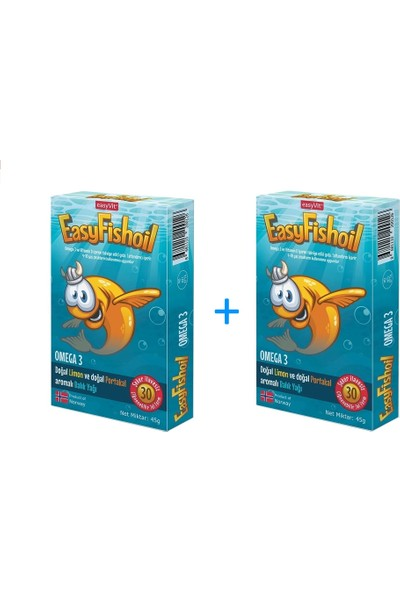 Easyvi̇t Easyfishoil Omega 3 Çiğnenebilir 30 Jel Tablet - 2 Kutu