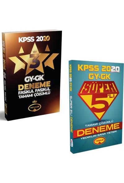 Yediiklim Yayınları 2020 KPSS GY - GK 3 Yıldız + Yediiklim Yayınları Süper 5'li Deneme Seti