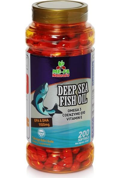 Mefa Naturals Omega 3 Qenzim Q10 Vitamin E 200 Softgels Epa Dha 1100 mg