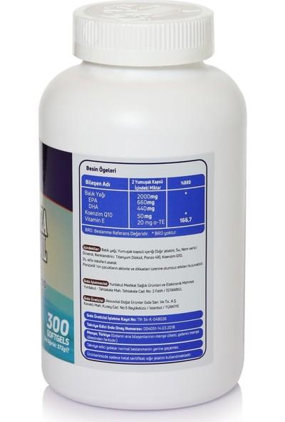 Mefa Naturals Omega 3 Coenzim Q10 Vitamin E 300 Softgels Epa Dha 1100 mg
