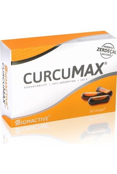 Sigmactive Curcumax - Curcumin - Zerdaçal Özü - 30 Licaps