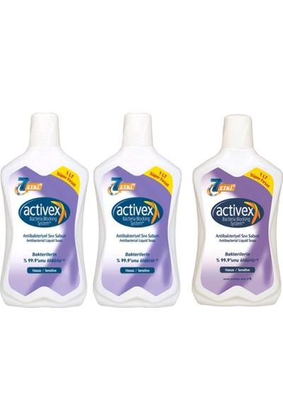 Activex Antibakteriyel Sıvı Sabun 1 lt 3'lü