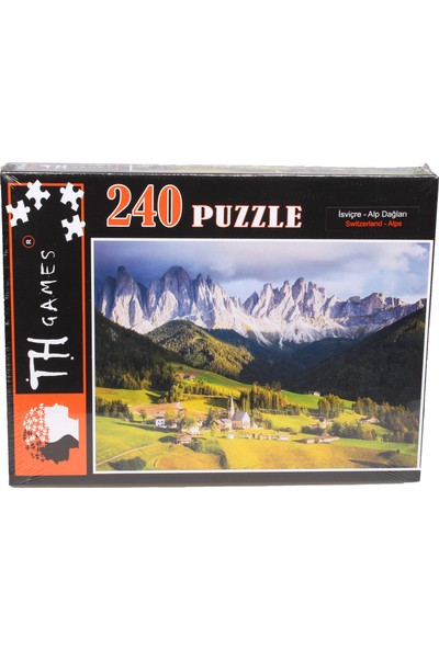Th Games Isviçre Alp Dağları Puzzle 240 Parça