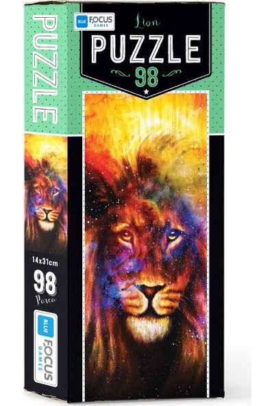Blue Focus 98 Parça Puzzle Lion