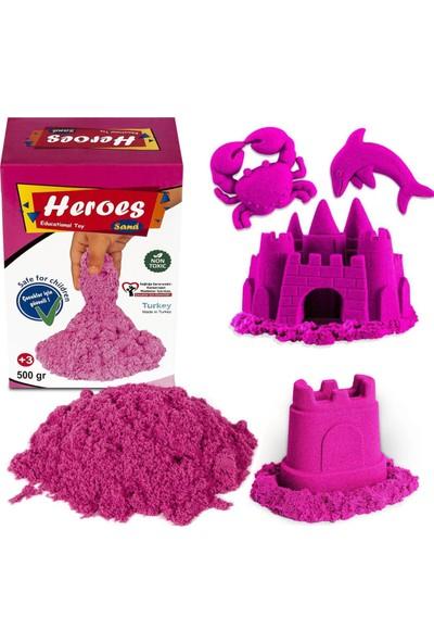 Heroes Kinetik Kum 500 gr Pembe