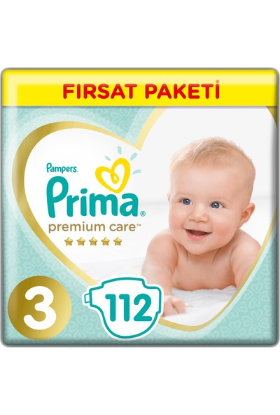 Prima Bebek Bezi Premium Care 3 Beden 112 Adet Midi Fırsat Paketi