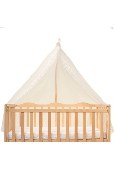 Babycom Fransız Dantelli Cibinlik Tülü