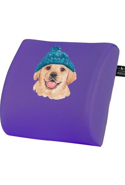 Happy Hours Blue Cap Dog Visco Bel Yastığı Ofis Sırt Minderi