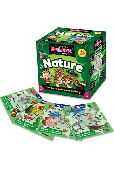 Green Board Games BrainBox Nature İngilizce Hafıza Oyunu