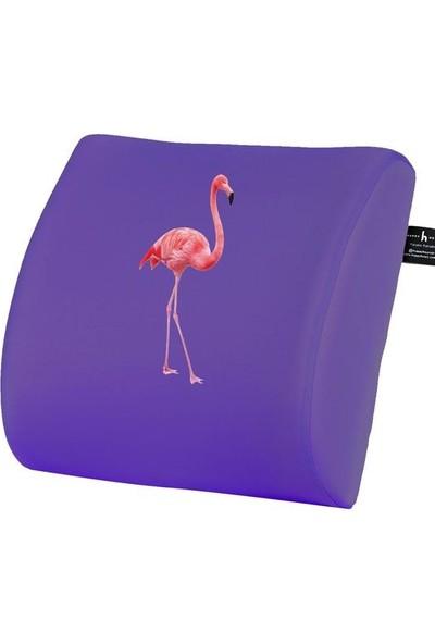 Happy Hours Flamingo Ofis Visco Bel Yastığı Sırt Minderi