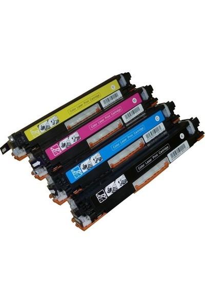 Eko Kartuş Hp Laserjet Pro CP1025 Pro 100 Color Mfp M175 Muadil Set Toner 1400 Sayfa Renkli
