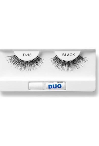 Duo Takma Kirpik %100 Doğal ve Siyah Görünüm D-13