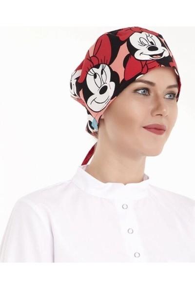 Nur Ortopedi Minnie Mouse Doktor Hemşire Hastane Aşçı Cerrahi Bonesi