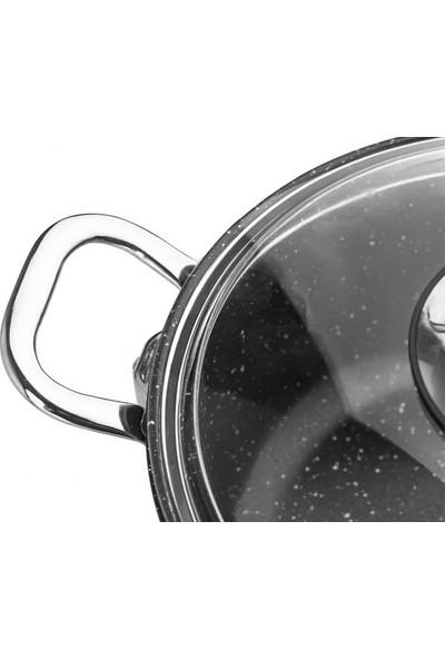 Taç Gravita Döküm Basık Tencere 26 cm Siyah