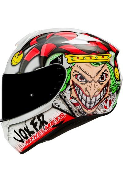 MT Kask MT Targo Joker A0 Gloss-Pearl White Şeffaf Vizörlü M