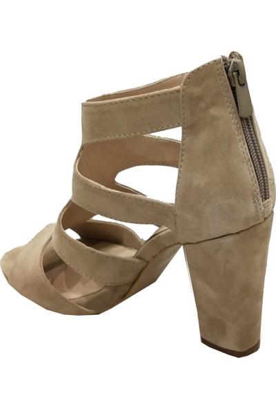 Sms 2178 Topuklu Fermuarlı Kadın Sandalet