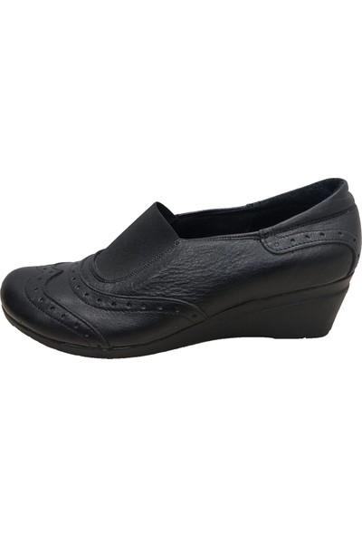 Scavia 363 Deri Dolgu Topuklu Kadın Ayakkabı