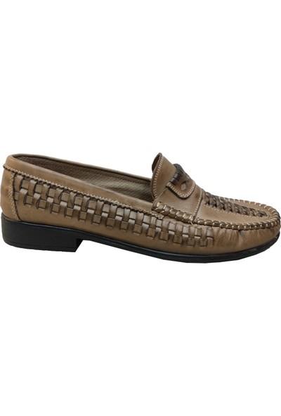 Sultan Deri Örgülü Örme Erkek Ayakkabı