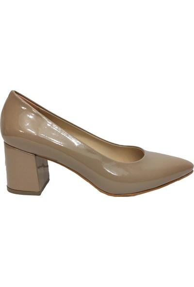 Gizem 766 Rugan Çaça Topuklu Kadın Ayakkabı
