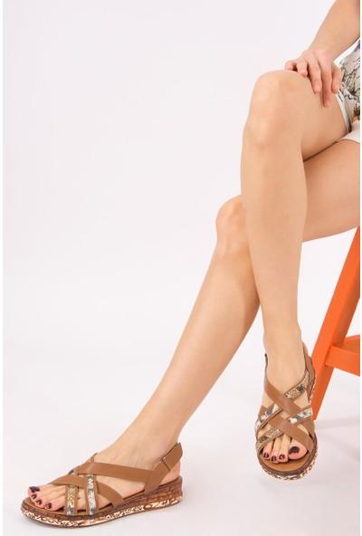 Fox Shoes Taba Kadın Sandalet H288094109