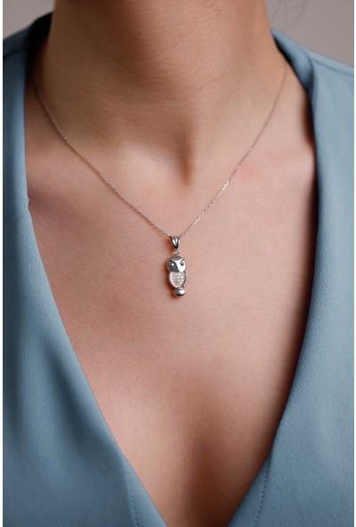 Mithra Jewelry Üç Boyutlu Kuğu Model Gümüş Kolye 925 Ayar
