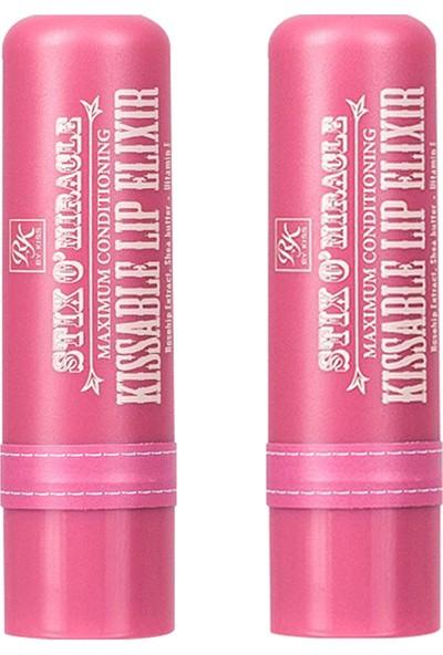 Ruby Kisses Dudak Nemlendirici - Kuşburnu Yağı & Gül 4 gr 2'li